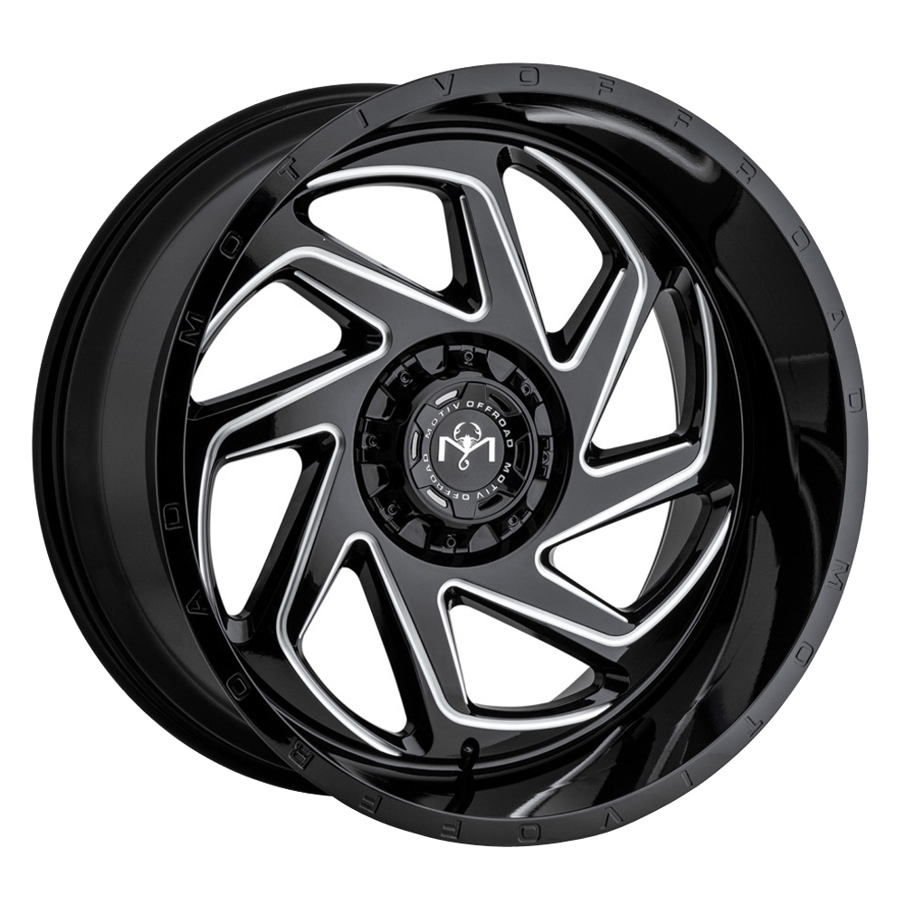 Motiv Wheels 426 Morph - Black Milled w/Chrome Accents Rim
