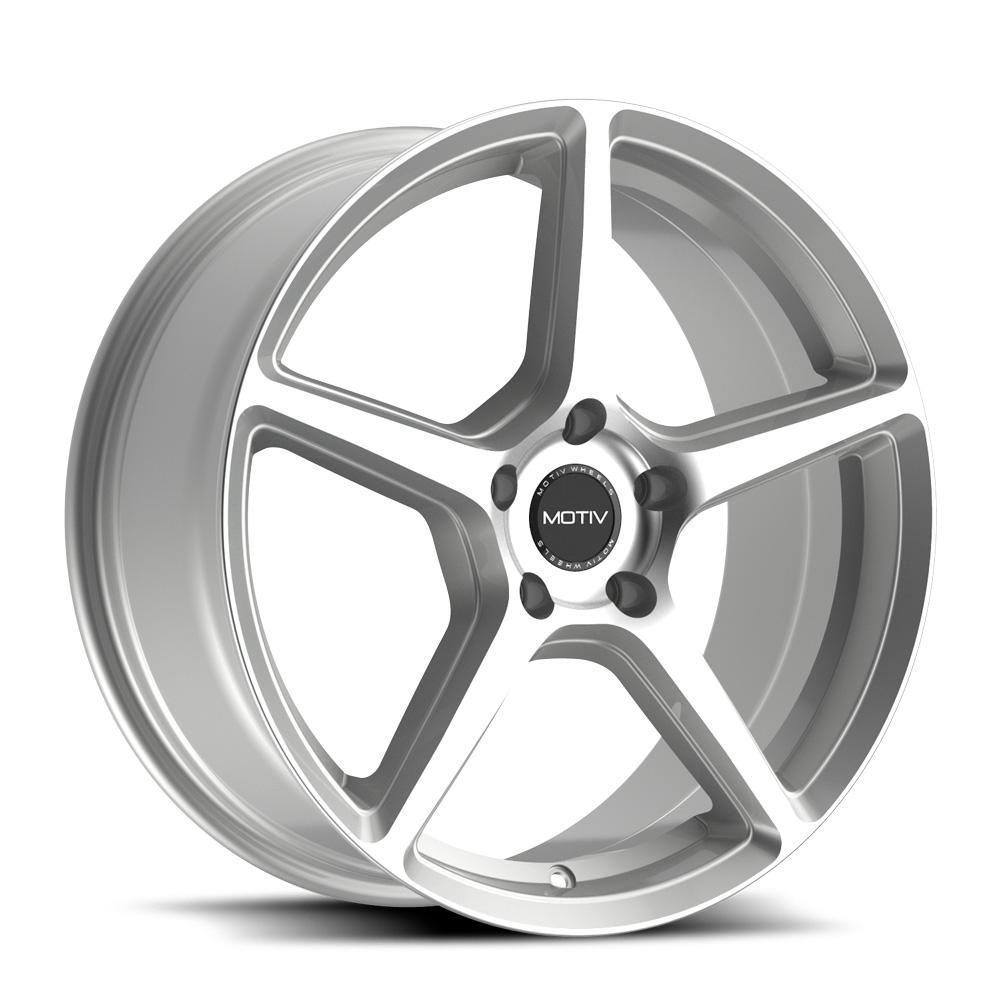 Motiv Wheels 433B - Silver Machined Rim