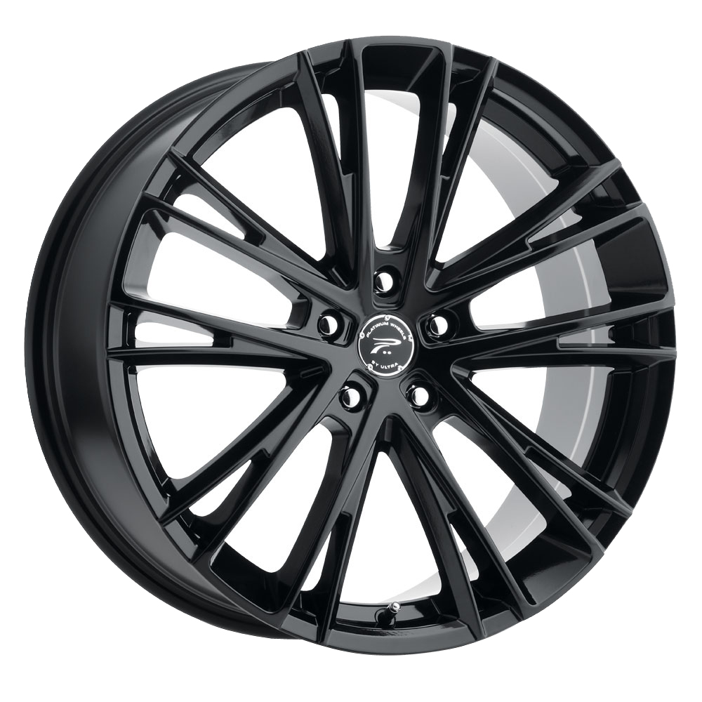 Platinum Wheels 458BK Prophecy - Gloss Black with Clear-Coat