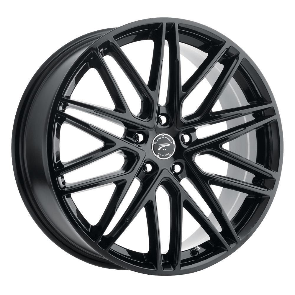 Platinum Wheels 460BK Atonement - Gloss Black and Clear-Coat Rim