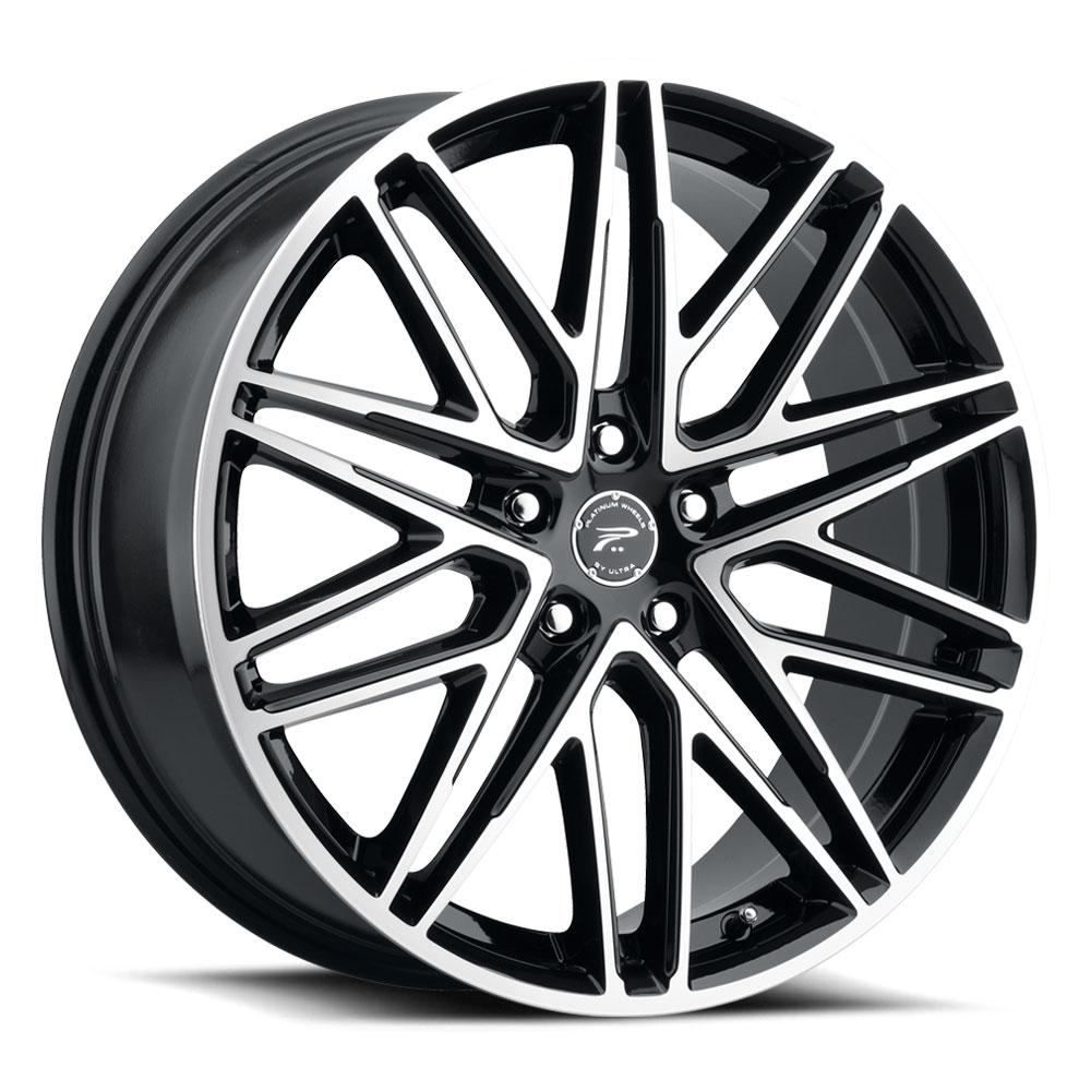 Platinum Wheels 460U Atonement - Gloss Black with Diamond Cut Face and Clear Coat Rim