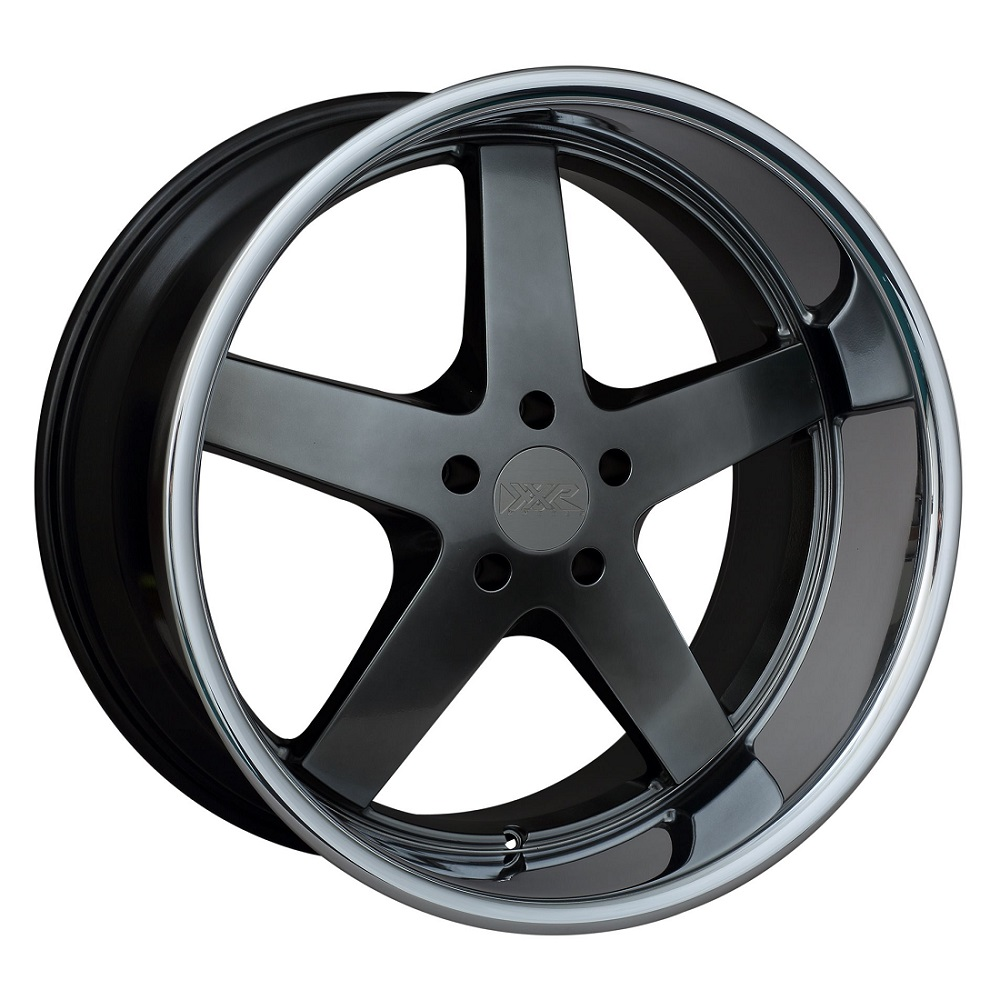 XXR Wheels 968 - Hyper Black / Sainless Steel Chrome Lip Rim