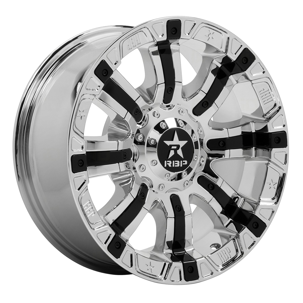 RBP Wheels 94R Colt - Machined Face with Gloss Black Inserts Rim