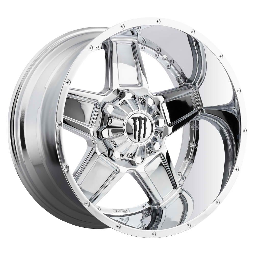 TIS Wheels 543C - Chrome with Gloss Black Monster M-Claw Logo Rim