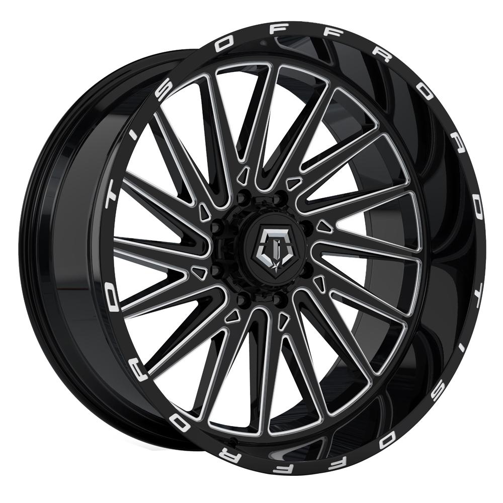 TIS Wheels 547BM - Machined Gloss Black Rim