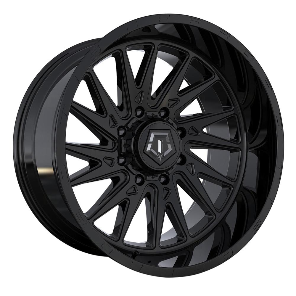 TIS Wheels 547B - Gloss Black with Milled & Painted Lip Logo Rim