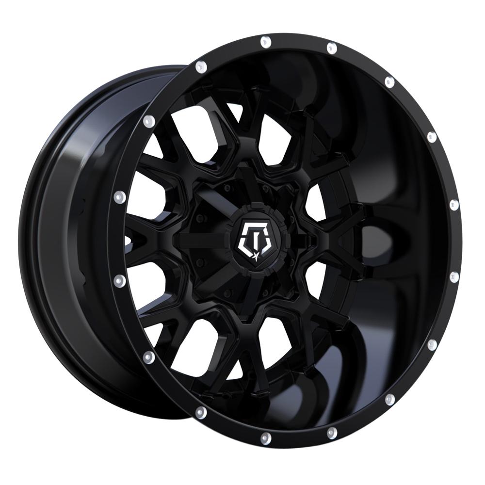 TIS Wheels 549B - Satin Black with Bright Spot Milling on Lip Rim