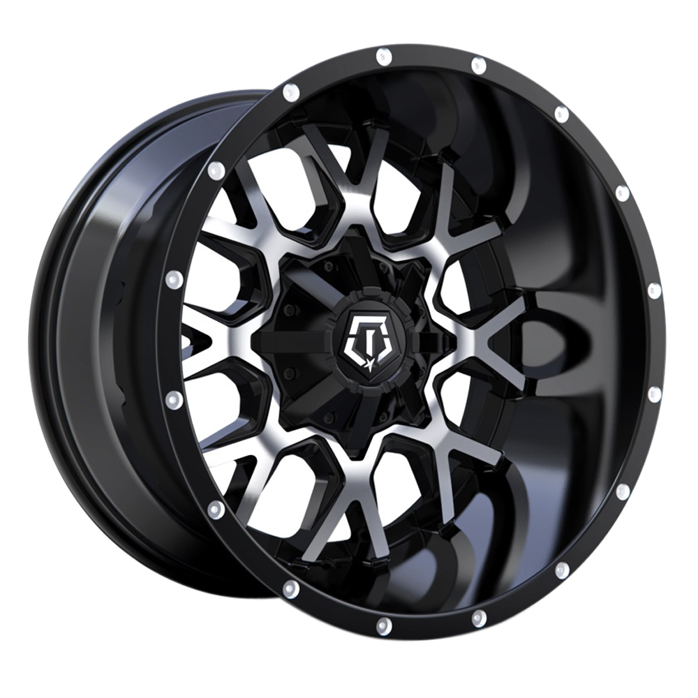 TIS Wheels 549MB - Gloss Black Machined Face and Bright Spot Milling on Lip Rim