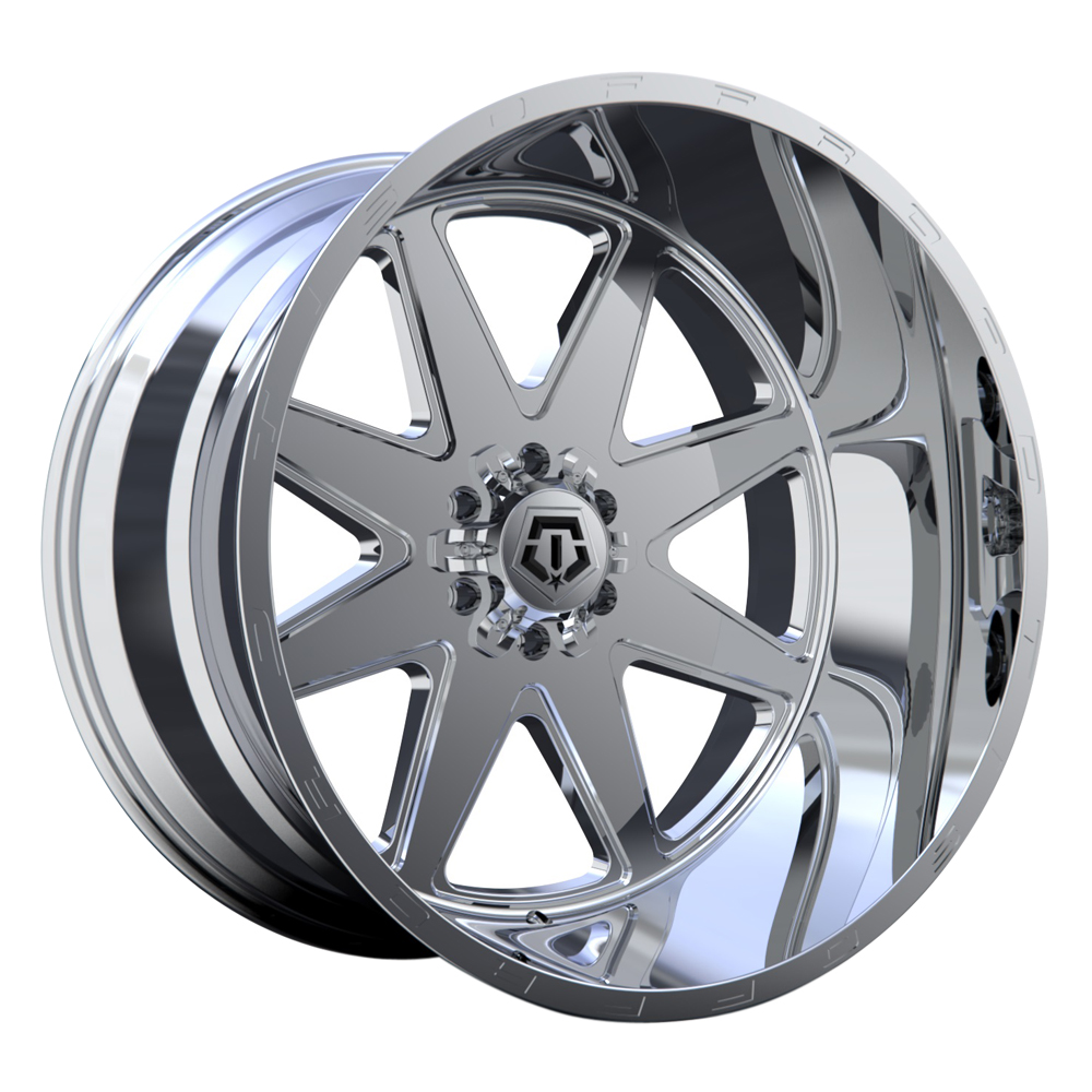 TIS Wheels 551P - Full Polished with Milled Lip Logo Rim
