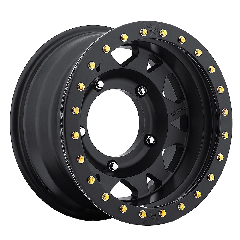Ultra Wheels 103 Xtreme Wide 5 True Beadlock - Satin Black / Satin Black Beadlock Rim