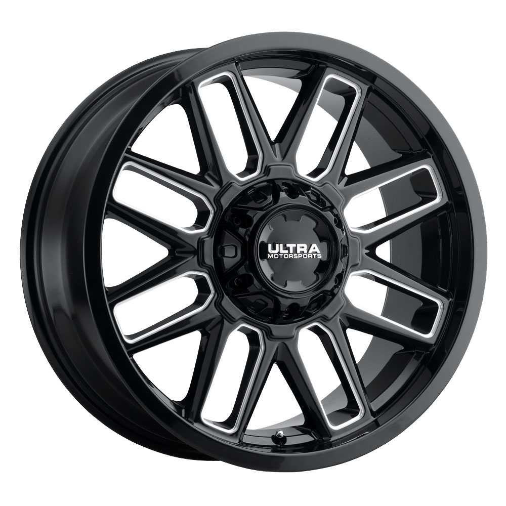 Ultra Wheels 231 Butcher - Gloss Black with Milled Accents and Clear Coat Rim