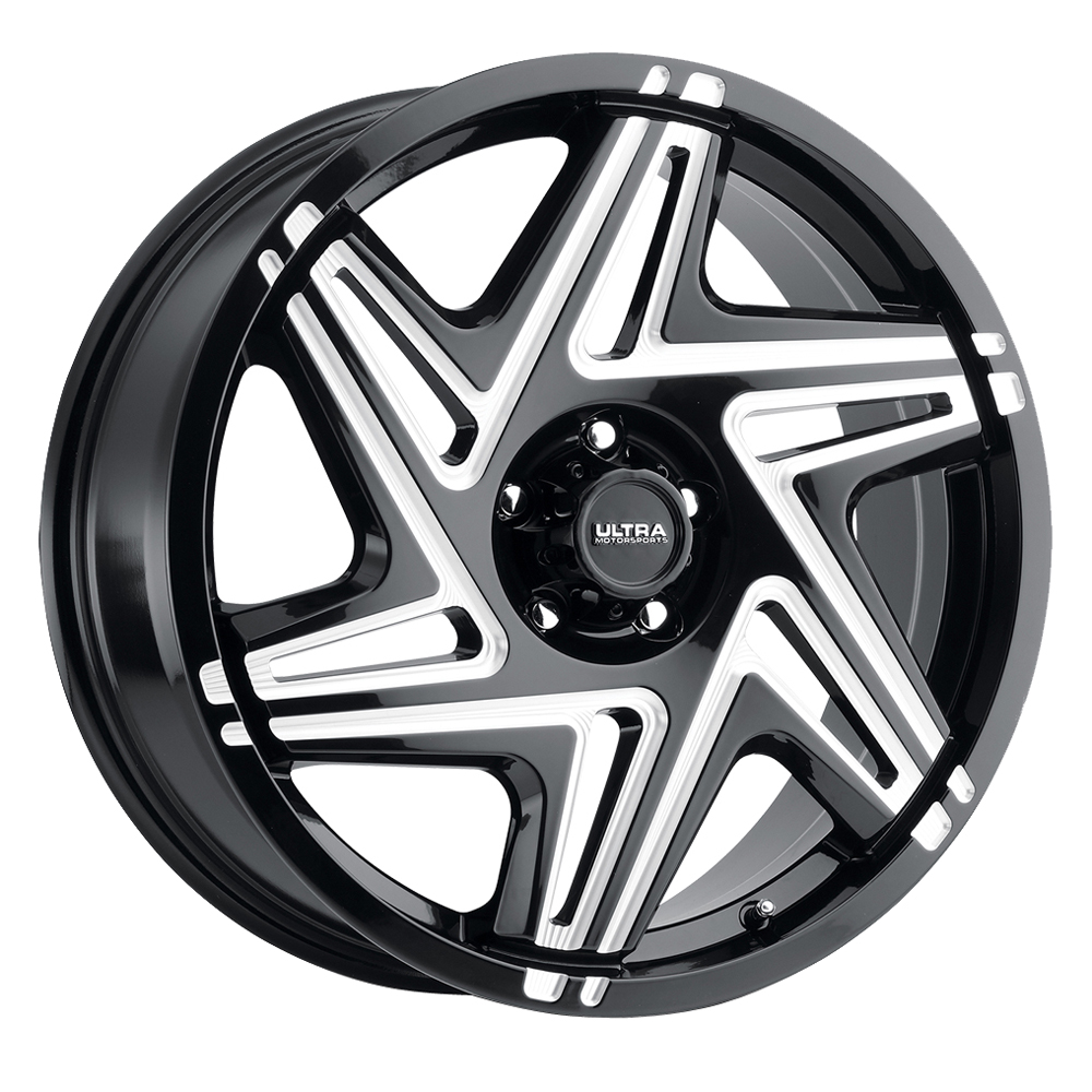 Ultra Wheels 263 Sinister - Gloss Black Milled Spokes and Clear Coat Rim