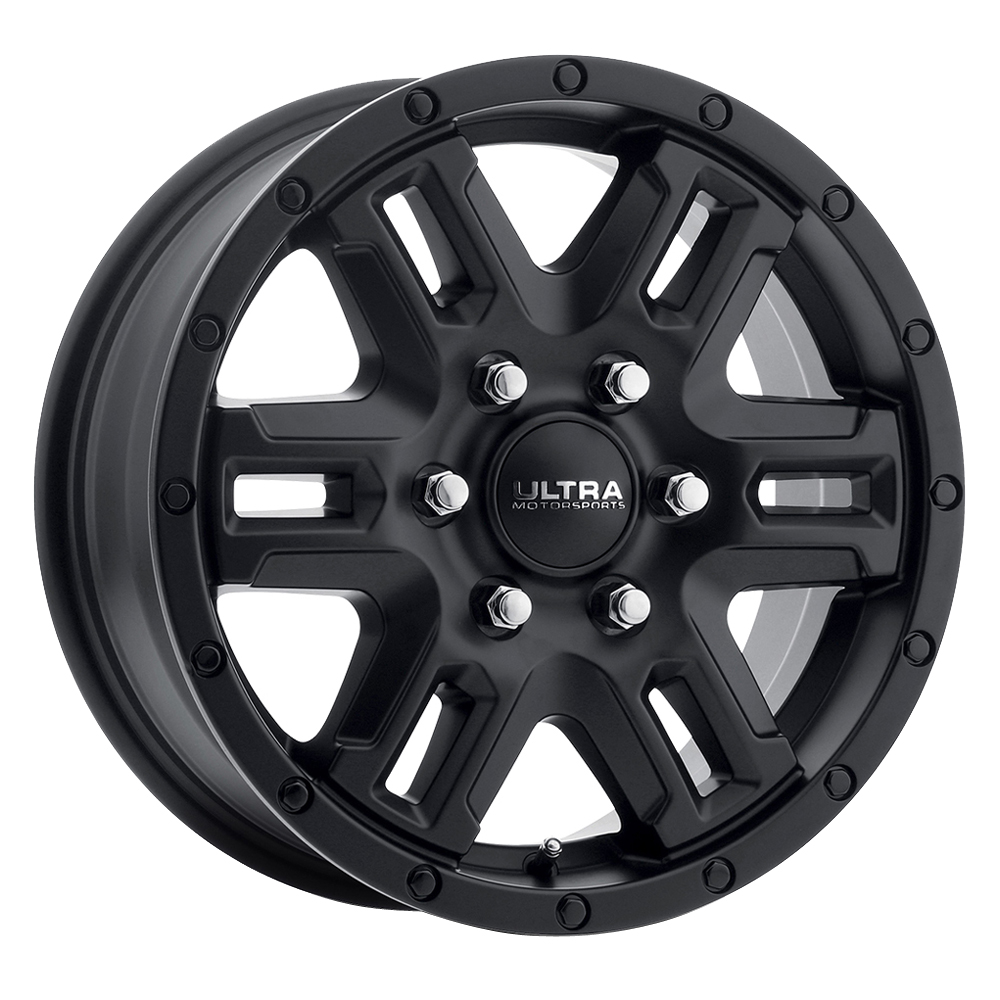 Ultra Wheels 470 Judgement Van - Satin Black and Satin Clear Coat Rim