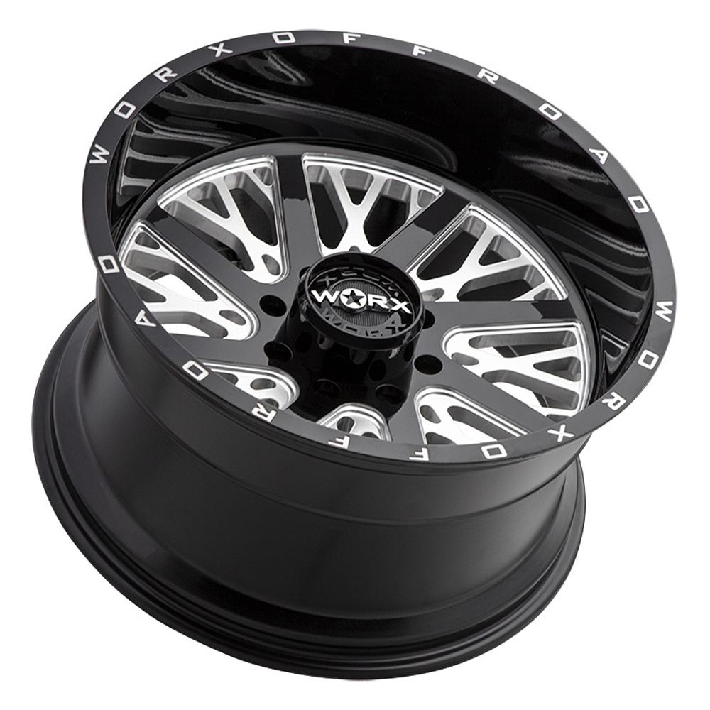 Worx Wheels 816BM Overtime - Black Milled Rim