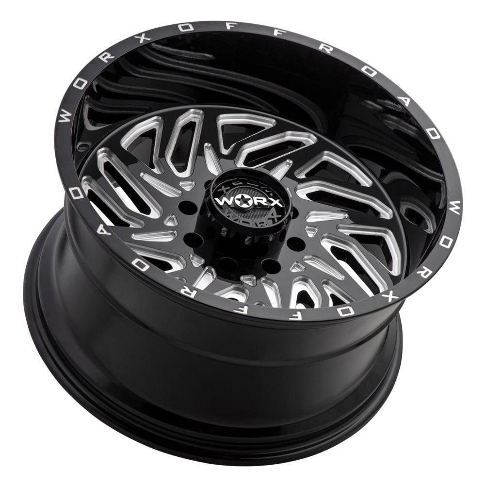 Worx Wheels 817BM Carnage - Black Milled Rim