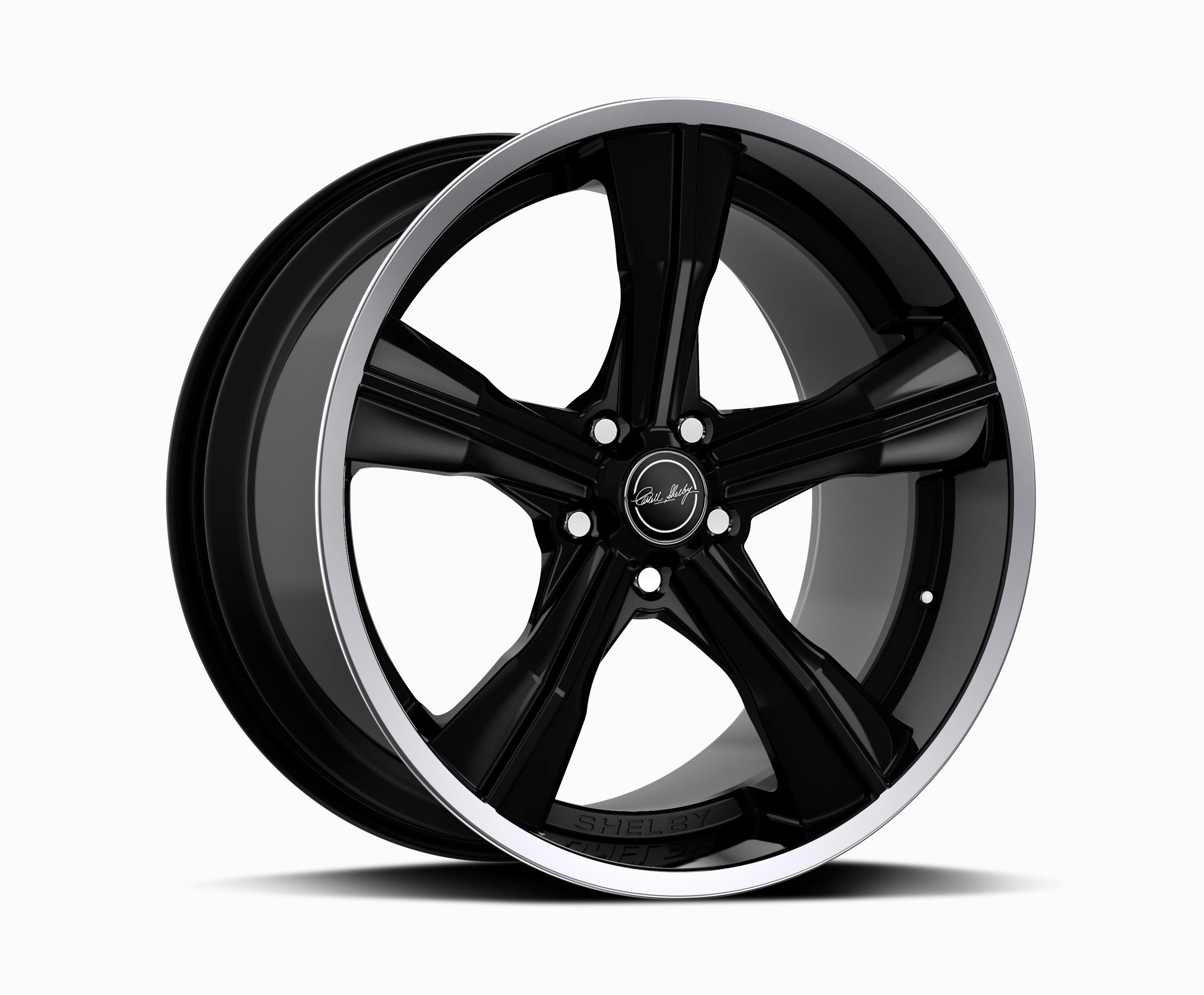 Carroll Shelby Wheels CS 11 - Black w/Polished Lip Rim