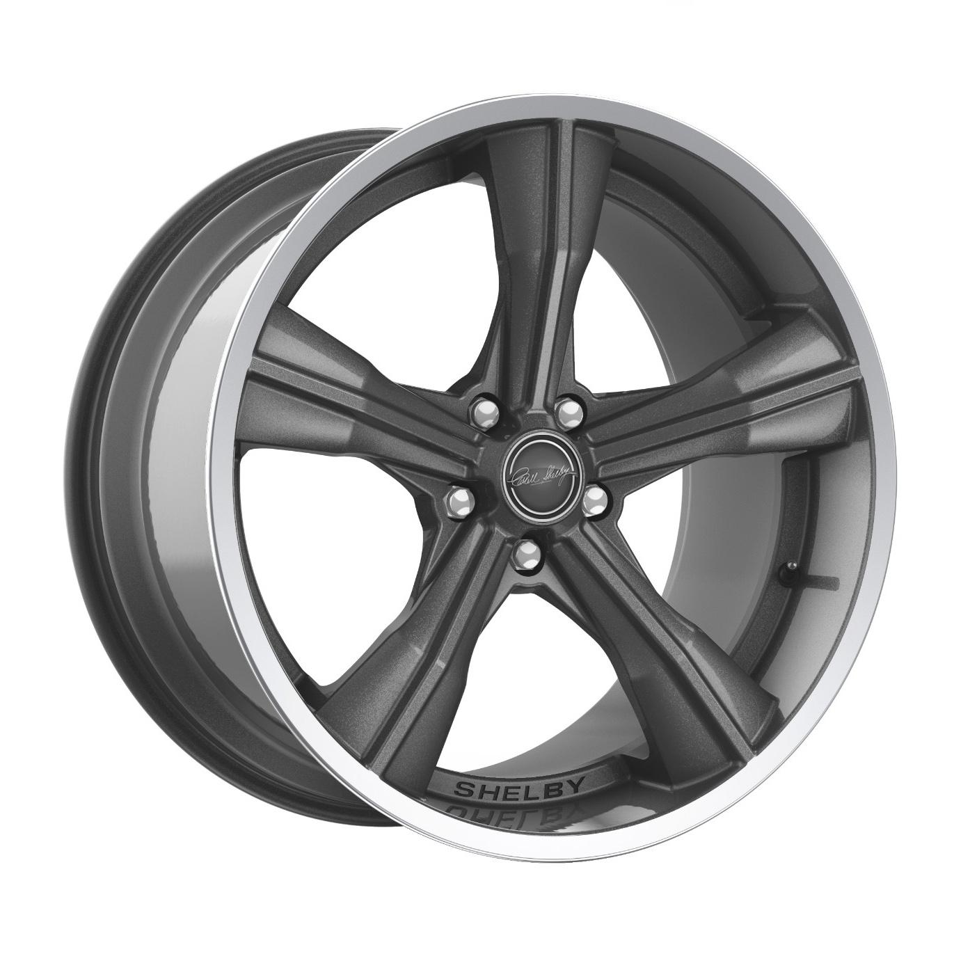 Carroll Shelby Wheels CS 11 - Gunmetal w/Polished Lip Rim