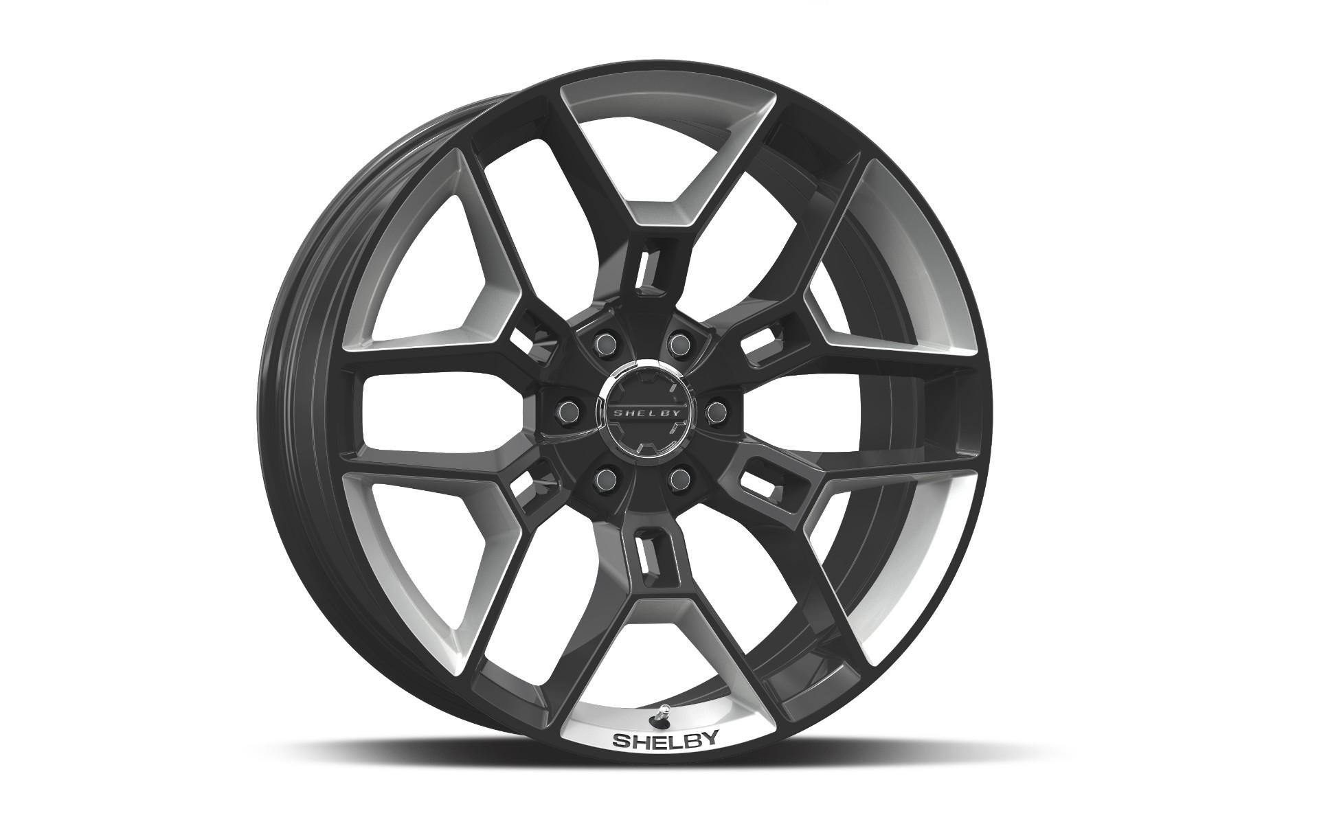 Carroll Shelby Wheels CS 45 - Black w/Hyper Silver Inserts Rim