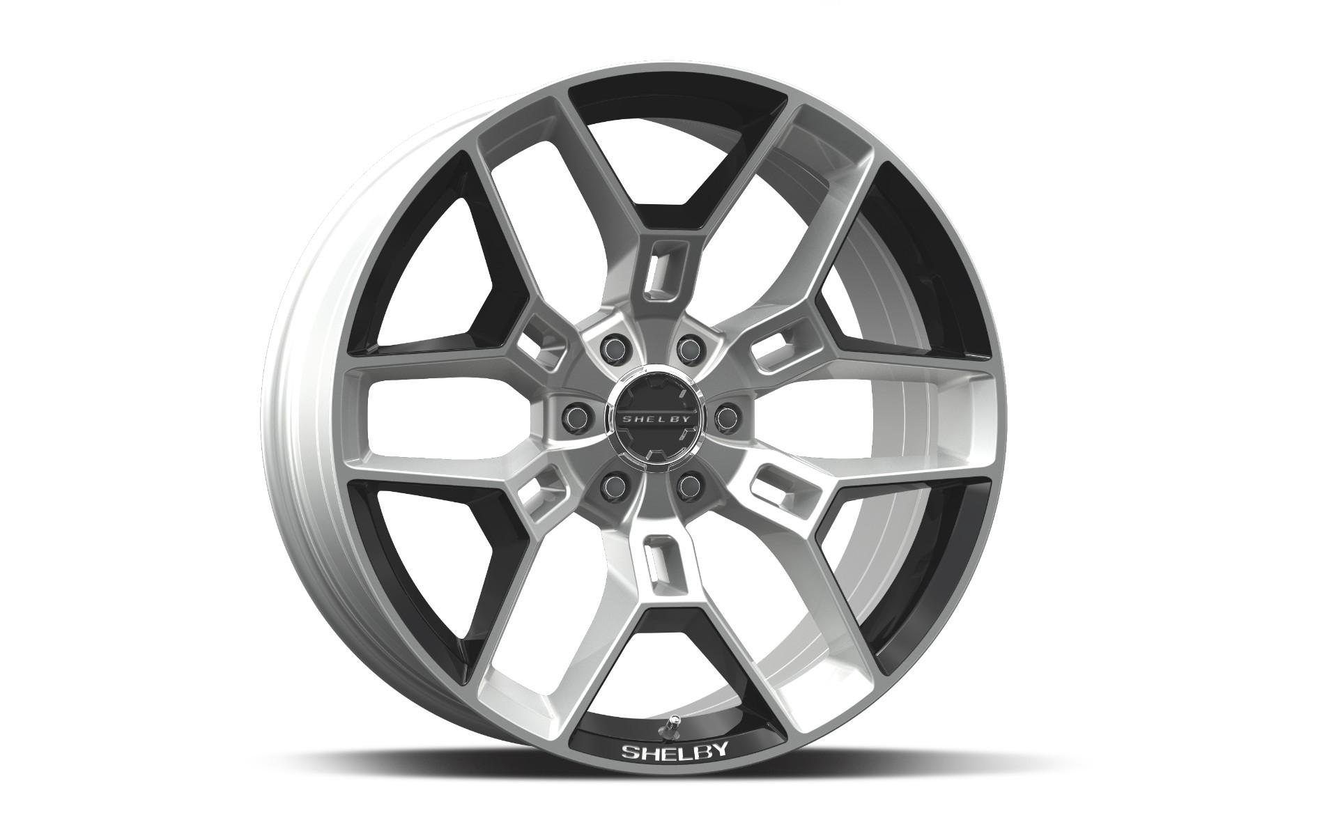 Carroll Shelby Wheels CS 45 - Hyper Silver w/Black Inserts Rim