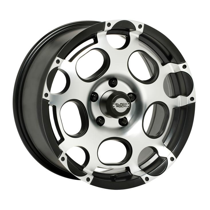Black Rock Wheels Scorpion - Machined finish with Black Accents Rim