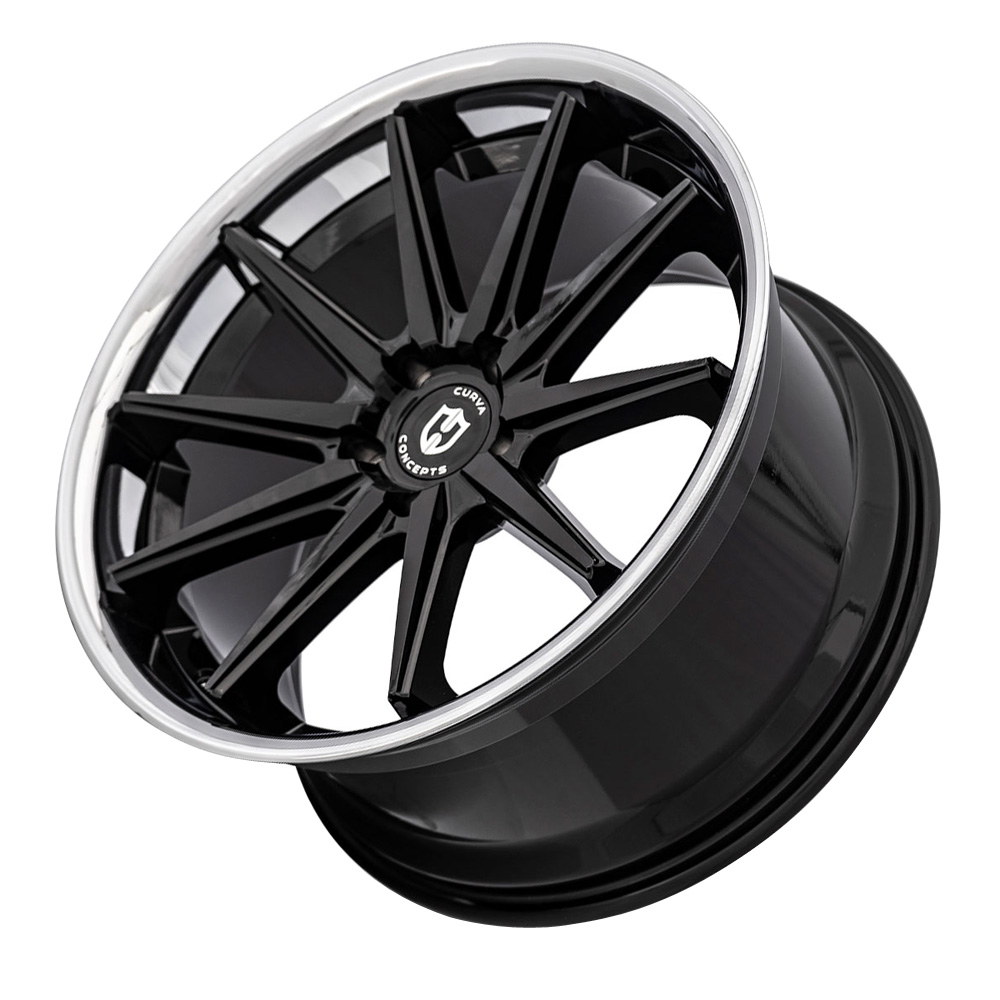 Curva Wheels C24 - Gloss Black Machine Face Rim