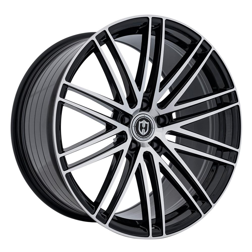 Curva Wheels CFF50 - Gloss Black Machine Face Rim