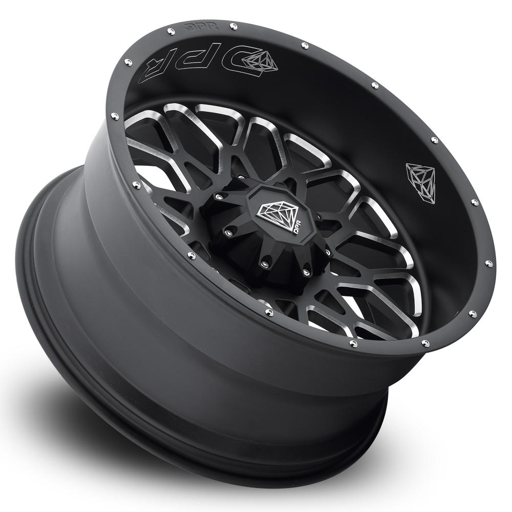 DPR Offroad Wheels Berreta - Matte Black Milled
