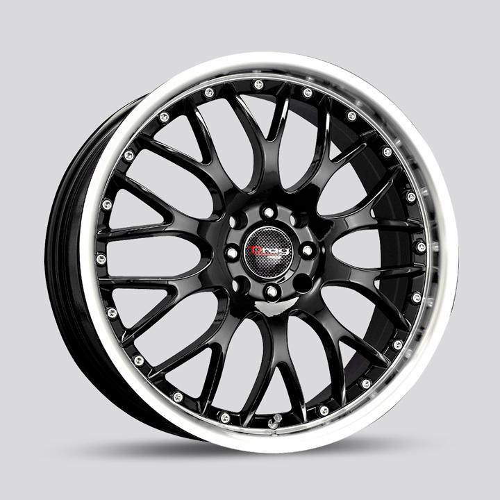 Drag Wheels DB19 - Gloss Black with Machined LIp