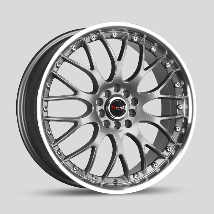 Drag Wheels DR19 - Gun Metal with Machined Lip Rim