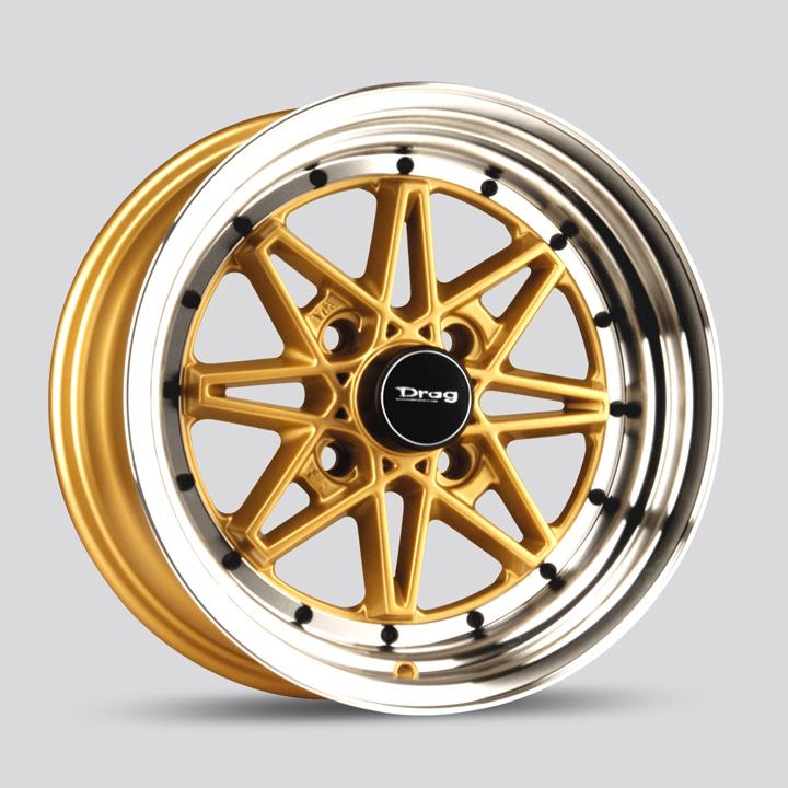 Drag Wheels DR20 - Gold/Machine Lip