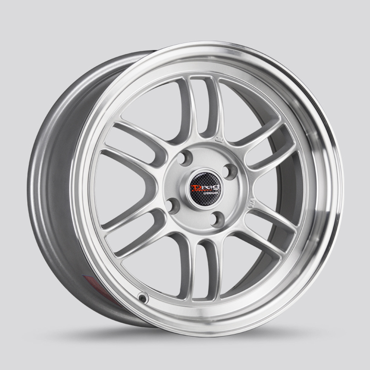 Drag Wheels DR21 - Silver with Machined Lip Rim