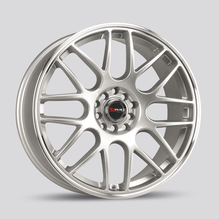 Drag Wheels DR34 - Silver with Machined Lip Rim