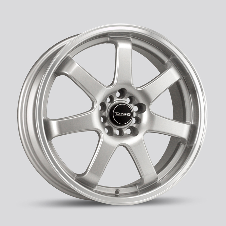 Drag Wheels DR35 - Silver with Machined Lip Rim