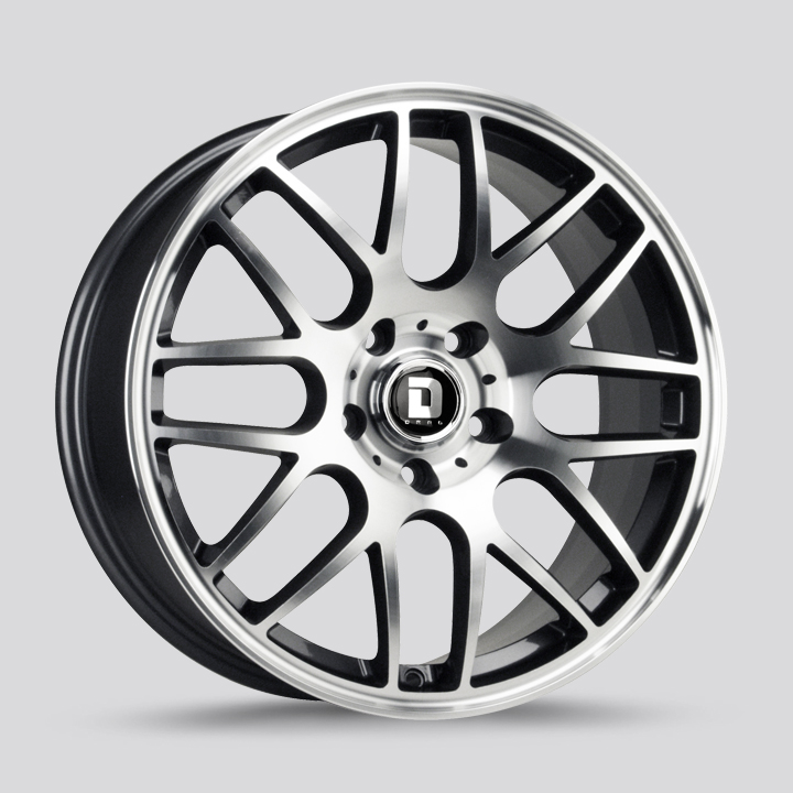 Drag Wheels DR37 - Flat black machined face Rim