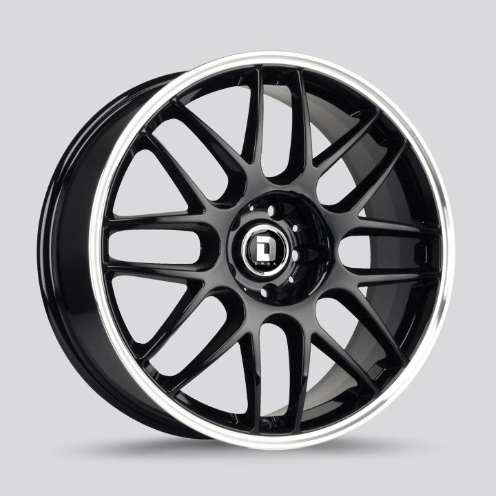 Drag Wheels DR37 - Gloss Black / Chrome Lip