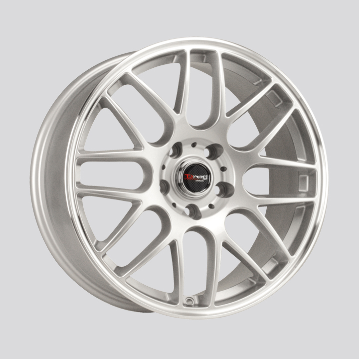 Drag Wheels DR37 - Silver with Machined Lip Rim