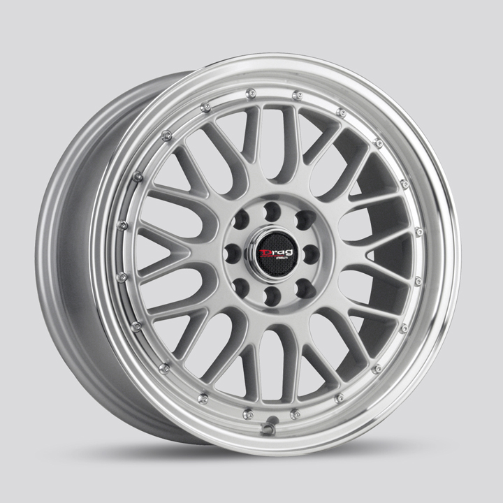Drag Wheels DR44 - Silver with Machined Lip