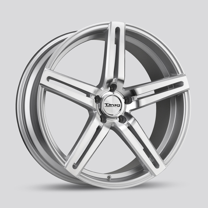 Drag Wheels DR60 - Silver with Machined Face Rim