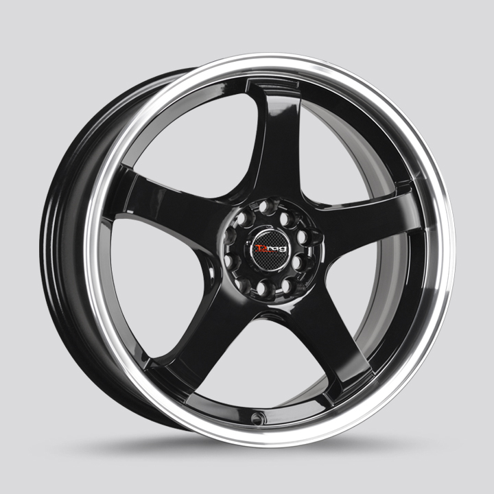 Drag Wheels DR63 - Gloss Black with Machined Lip