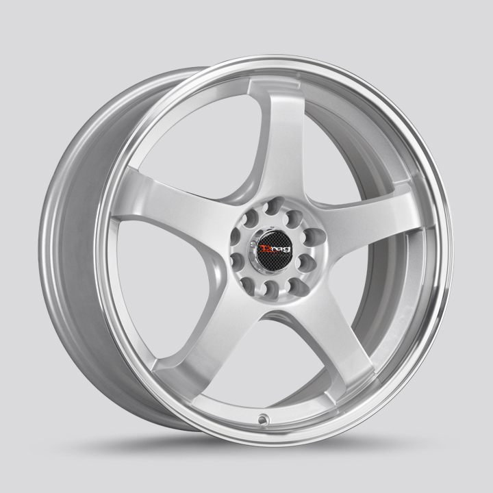 Drag Wheels DR63 - Silver with Machined Lip Rim