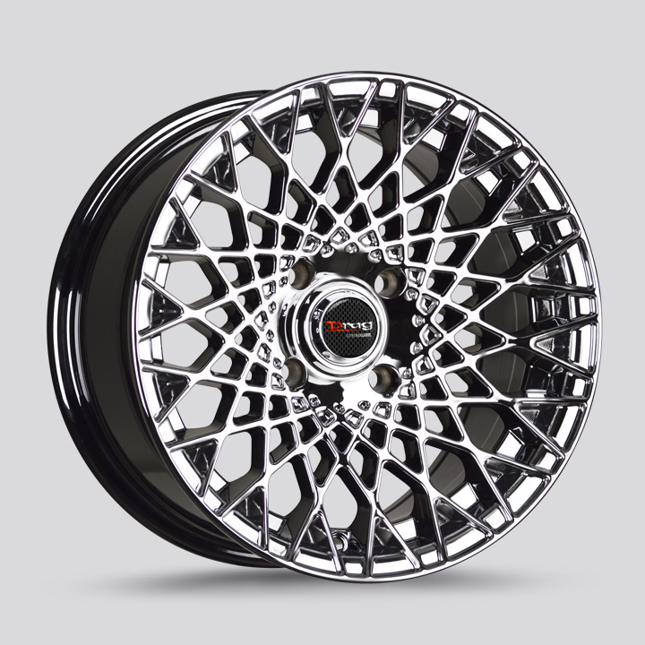Drag Wheels DR65 - Gloss Black with Machined Face