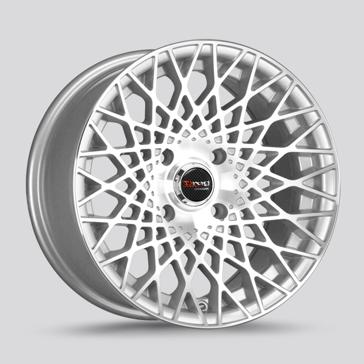 Drag Wheels DR65 - Silver with Machined Face