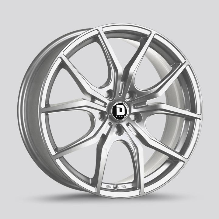Drag Wheels DR67 - Platinum Siver Rim