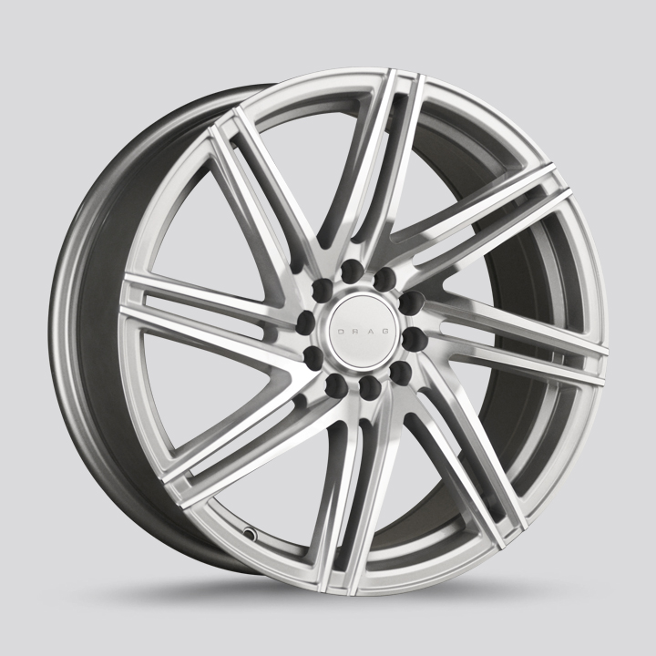 Drag Wheels DR70 - Silver with Machined Face Rim