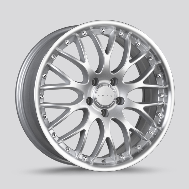 Drag Wheels DR75 - Silver with Machined Lip