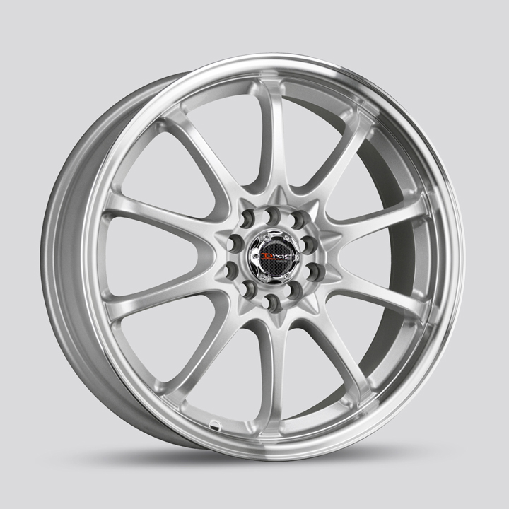 Drag Wheels DR9 - Silver with Machined Lip