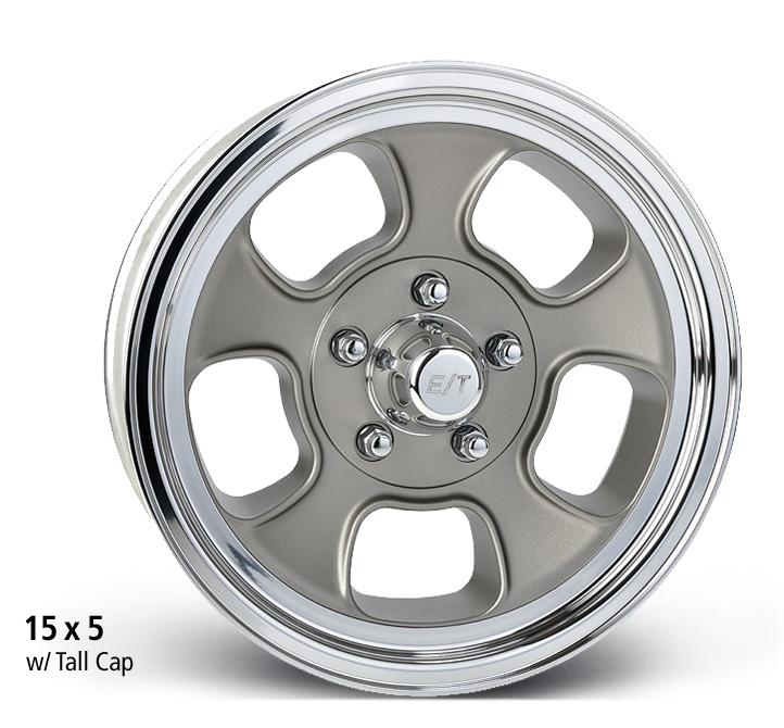 E-T Wheels Five Window Low Angle (Custom) - Cast Center/Polished Lip Rim