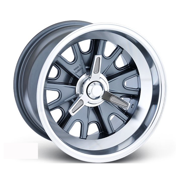 E-T Wheels Tringo (Custom) - Machined / Gray Painted Center Rim