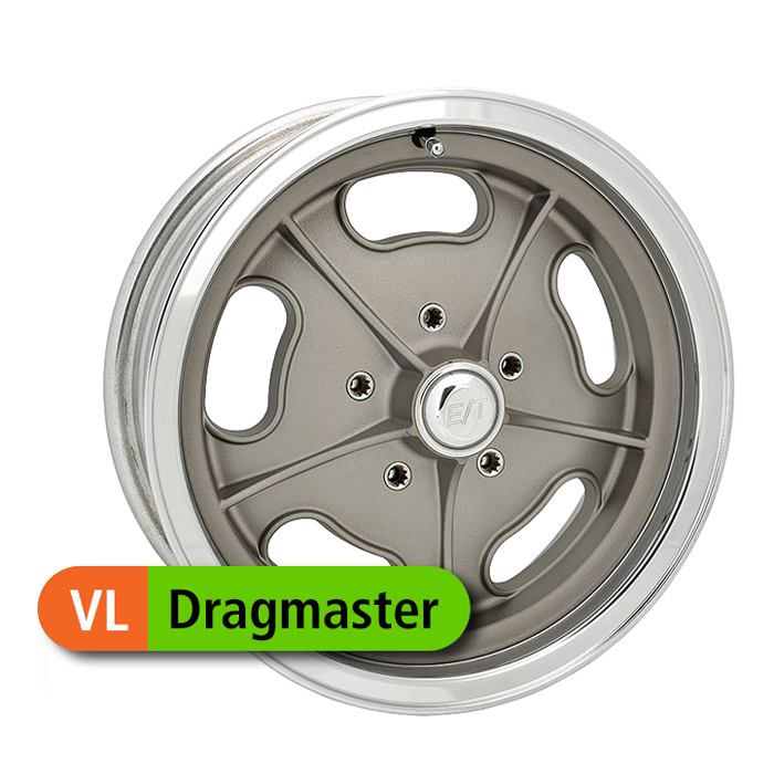 E-T Wheels Dragmaster - Painted Gray/Diamond Lip Rim