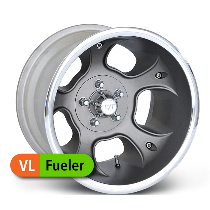E-T Wheels Fueler Value - Painted Gray/Diamond Lip